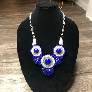 2/$20 Blue and silver chain necklace